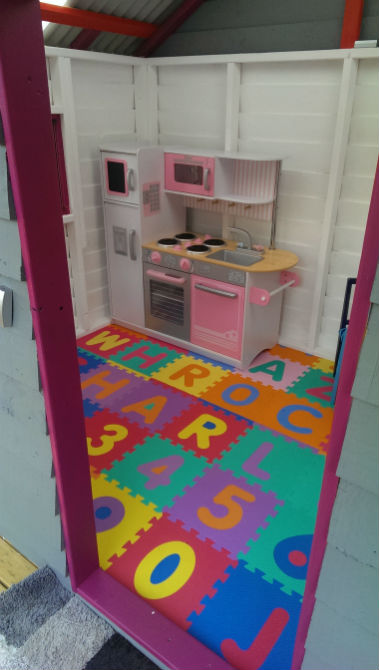 cubby painted by customer