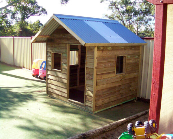 medium cubby house, x3 window openings $880