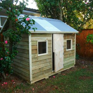 large cubby house, x2 perspex windows, stable door $1235 with accessories