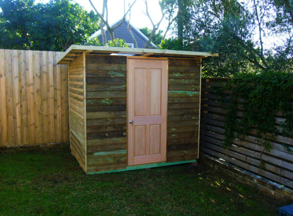 shed 2.4m x 2.4m, hardwood door $1695 with accessories