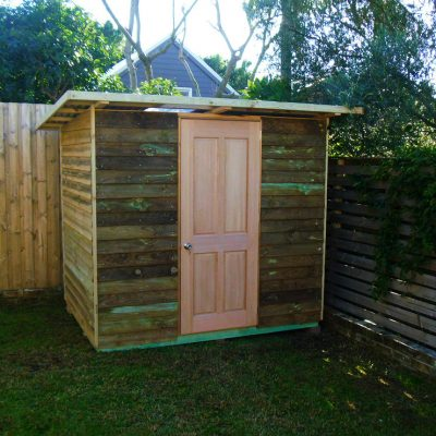 shed hardwood door $100 extra