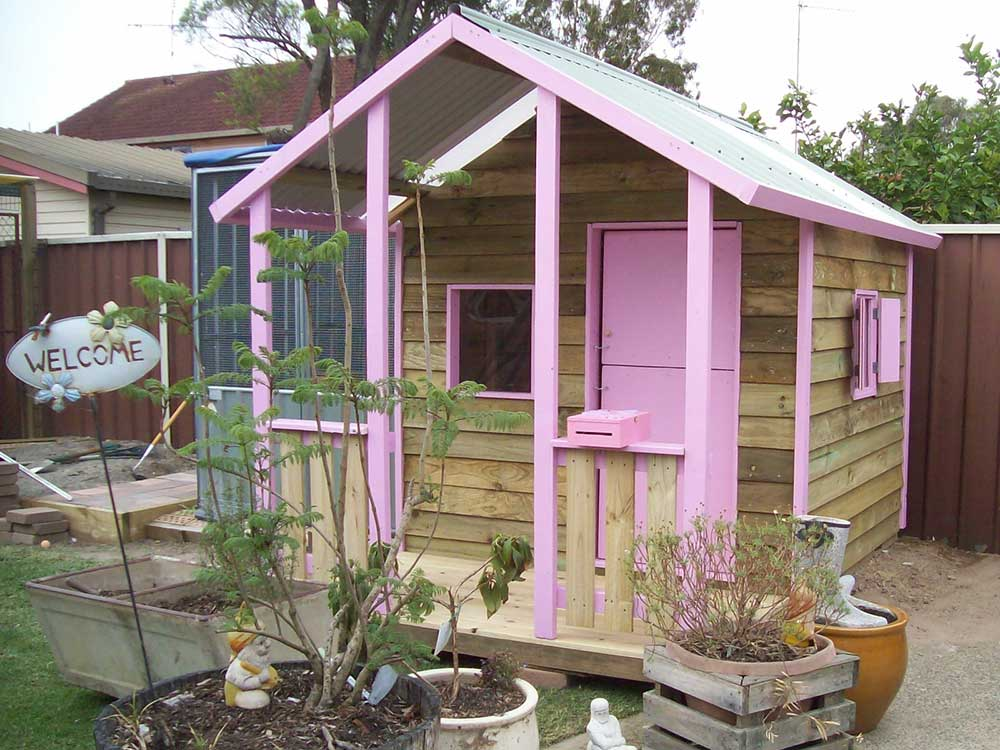 cubby house south Brisbane- features custom paint and bespoke design