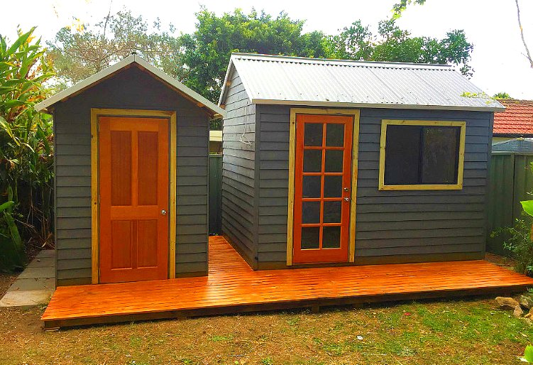 contemporary timber sheds custom designed and installed in Sydney