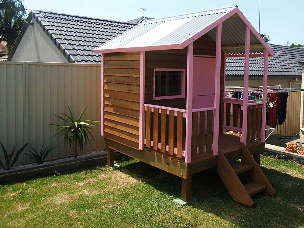 baby pink colored cubby Gold Coast Queensland
