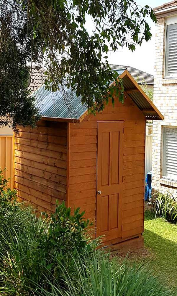large sized wooden shed