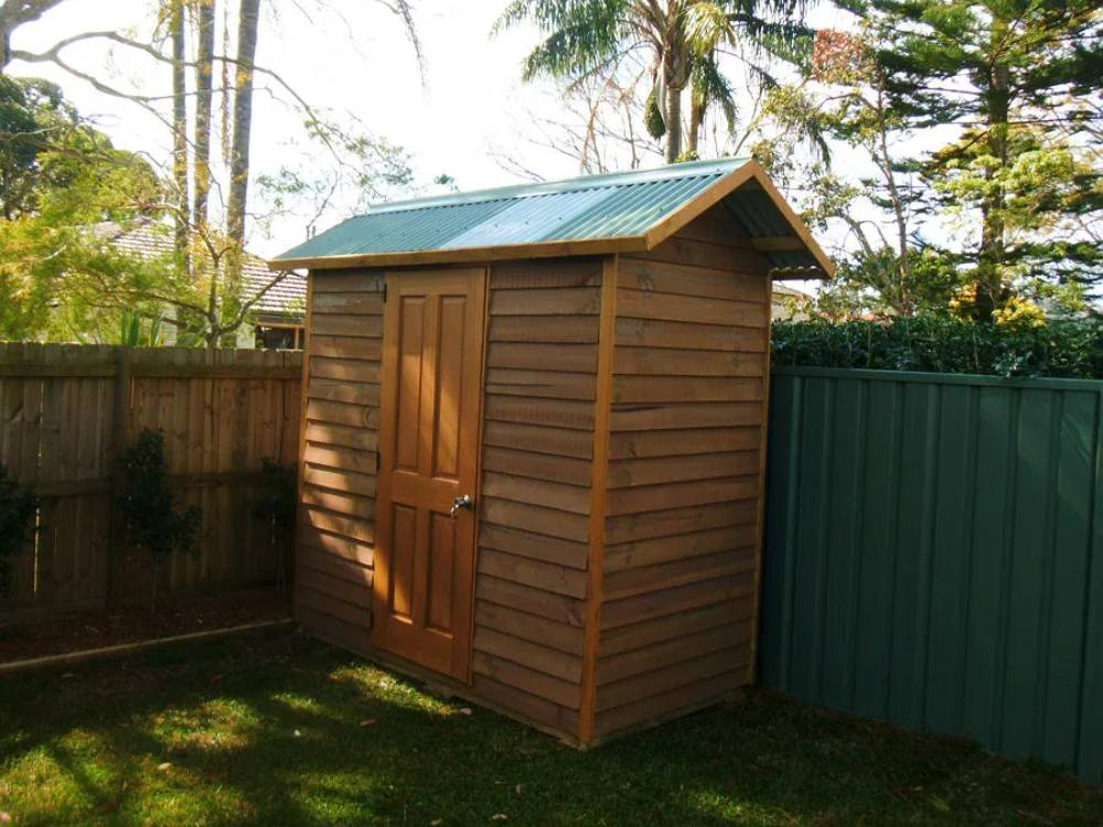 1.8 by 1.2 meter aussie made small wooden shed availabe as shed-kit
