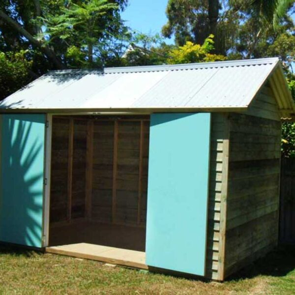 designer made, custom built outdoor sheds made from timber