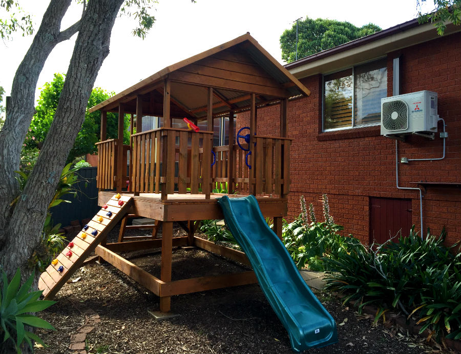 open fort cubby house, can be delivered, installed or flat pack supplied