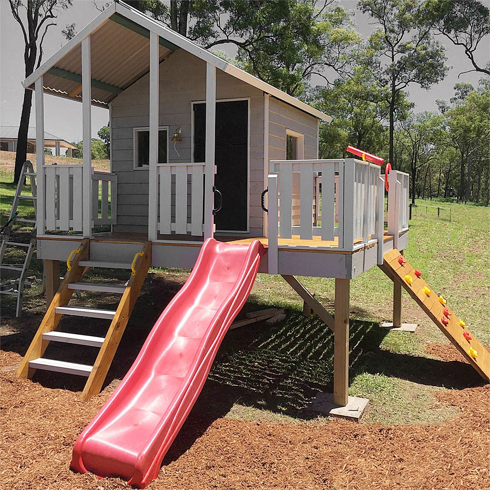timber cubbies brisbane, sold as flatpack kits or fully installed onsite