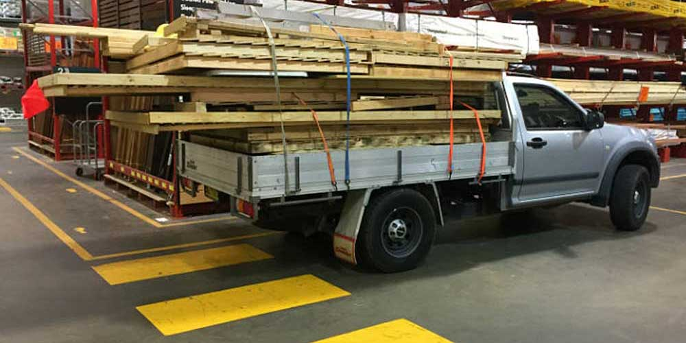 two flatpack cubbies loaded for delivery on ute