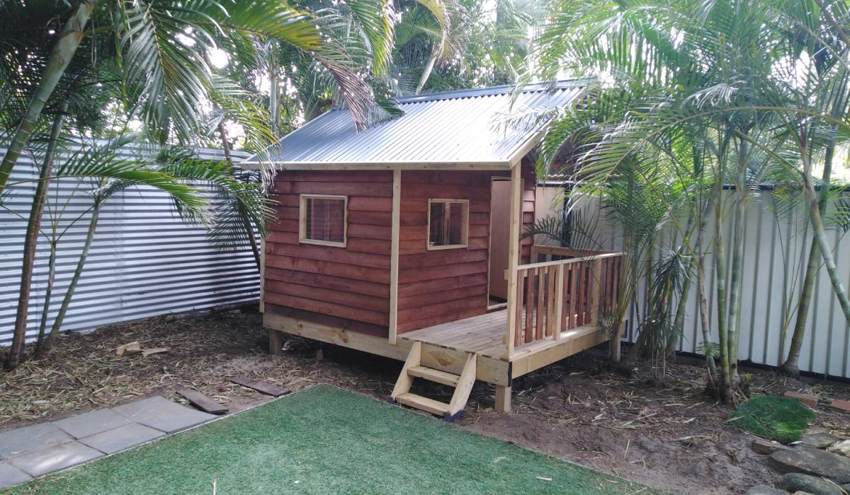 cubby house at open space veranda