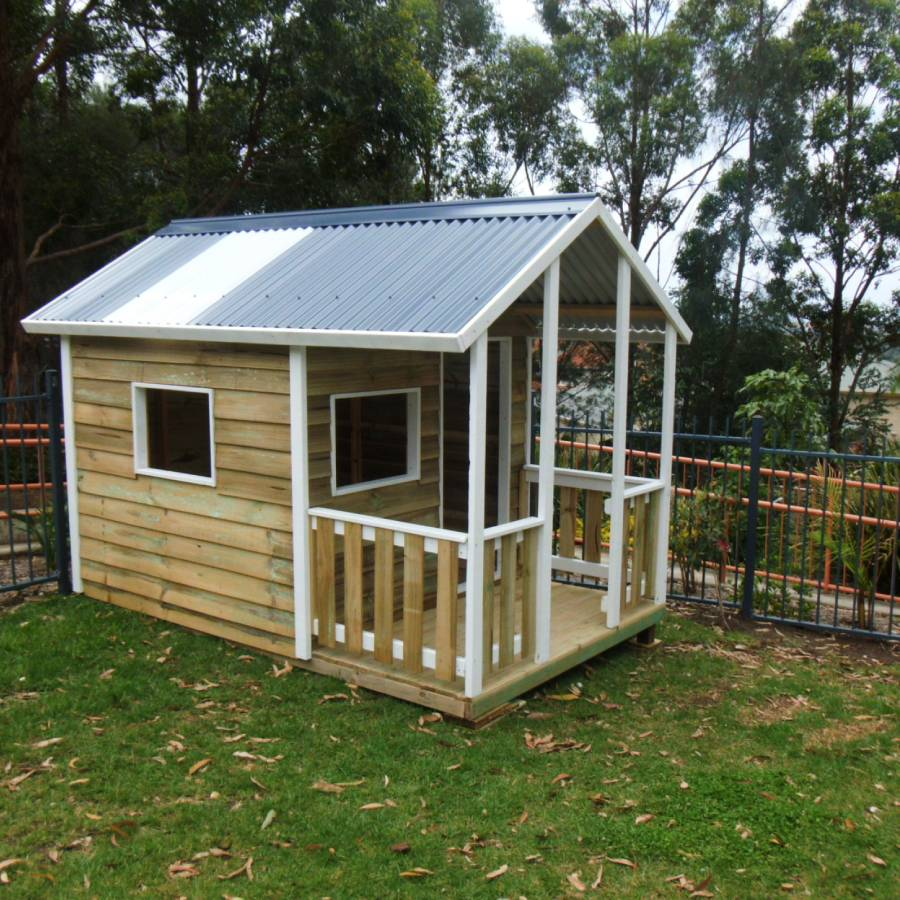 elevated cubby with slide