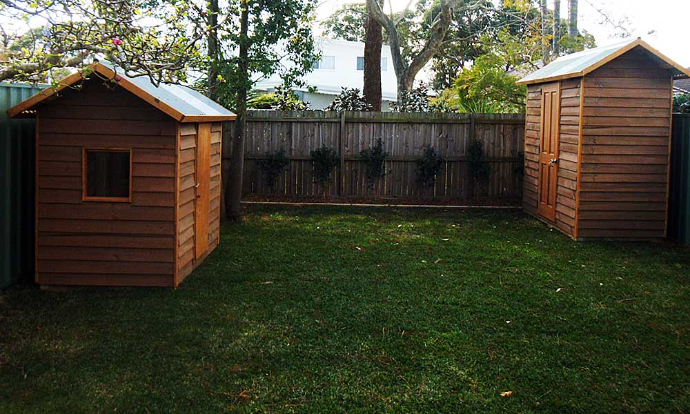 custom timber garden sheds as flat pack kits, Australia