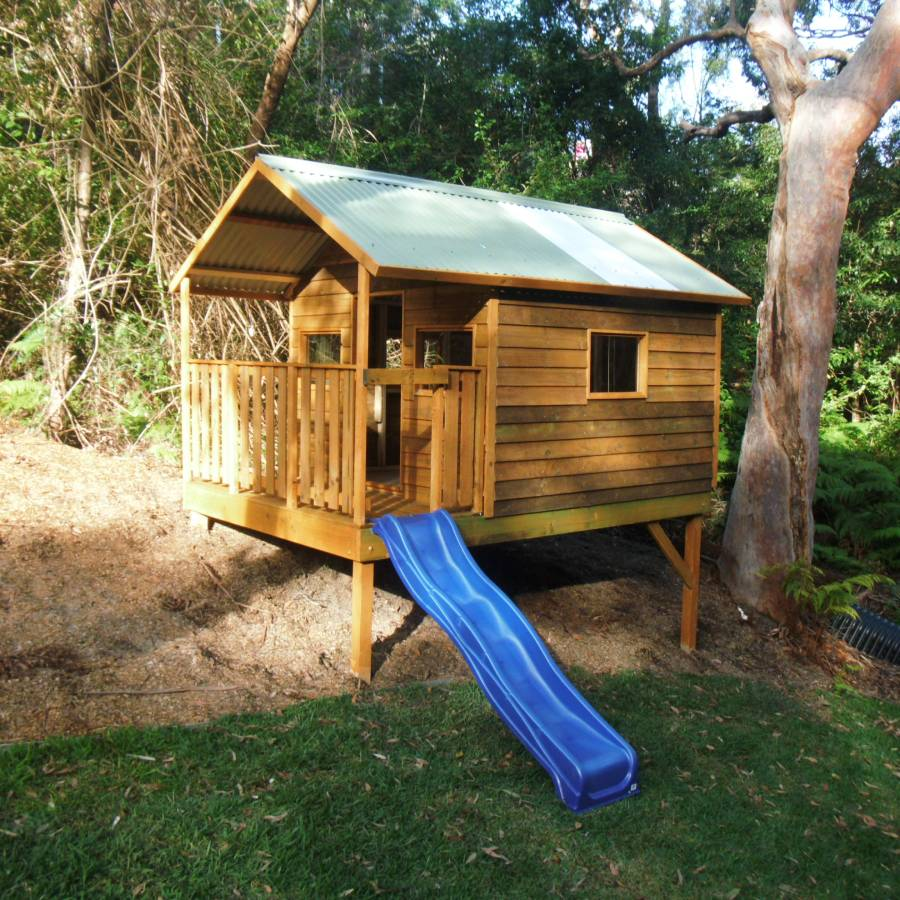 extra large cubby house deck
