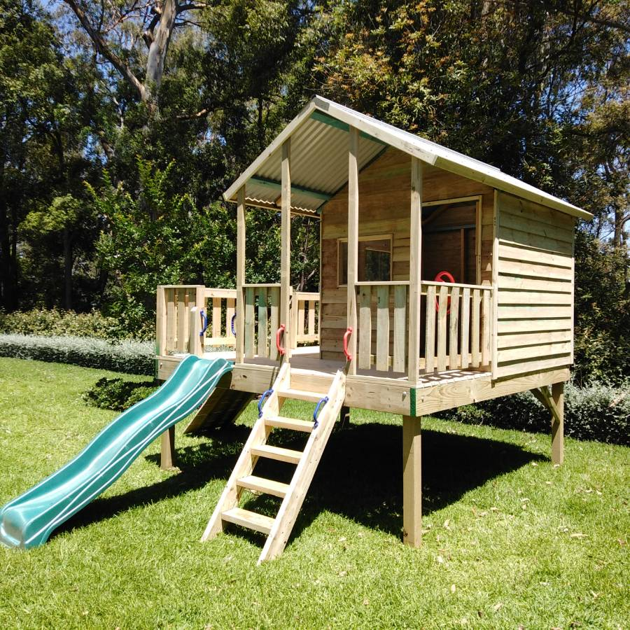 large cubby house deck
